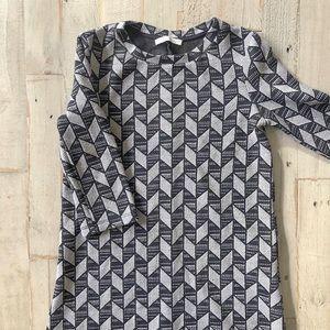 Zara A-line geometric print mini dress